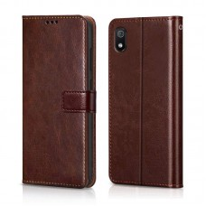 CHL Samsung Galaxy A10 Wallet Case [PU Leather] [Soft TPU] [RFID Blocking] [Shock-Absorbent Bumper] [Card Slots] [Kickstand] [Magnetic Closure] Flip Cover for Samsung Galaxy A10 – Brown