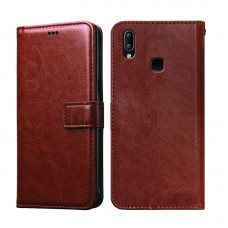 CHL Samsung Galaxy A10s Wallet Case [PU Leather] [Soft TPU] [RFID Blocking] [Shock-Absorbent Bumper] [Card Slots] [Kickstand] [Magnetic Closure] Flip Cover for Samsung Galaxy A10s – Brown