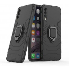 CHL Shock Proof Armor Kickstand Back Case Cover with Ring Holder For Samsung Galaxy A30s (Black)