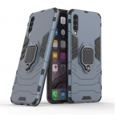 CHL Shock Proof Armor Kickstand Back Case Cover with Ring Holder For Samsung Galaxy A30s (Grey)