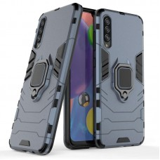 CHL Shock Proof Armor Kickstand Back Case Cover with Ring Holder For Samsung Galaxy A70s (Grey)