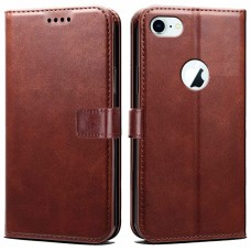 CHL Apple Iphone 7 Wallet Case [PU Leather] [Soft TPU] [RFID Blocking] [Shock-Absorbent Bumper] [Card Slots] [Kickstand] [Magnetic Closure] Flip Cover for Apple Iphone 7 – Brown