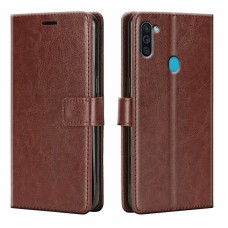 CHL Samsung Galaxy M11 Wallet Case [PU Leather] [Soft TPU] [RFID Blocking] [Shock-Absorbent Bumper] [Card Slots] [Kickstand] [Magnetic Closure] Flip Cover for Samsung Galaxy M11 – Brown